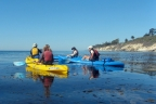 Kayaking in Santa Barbara Channel near Channel Islands National Park and Refugio State Beach.